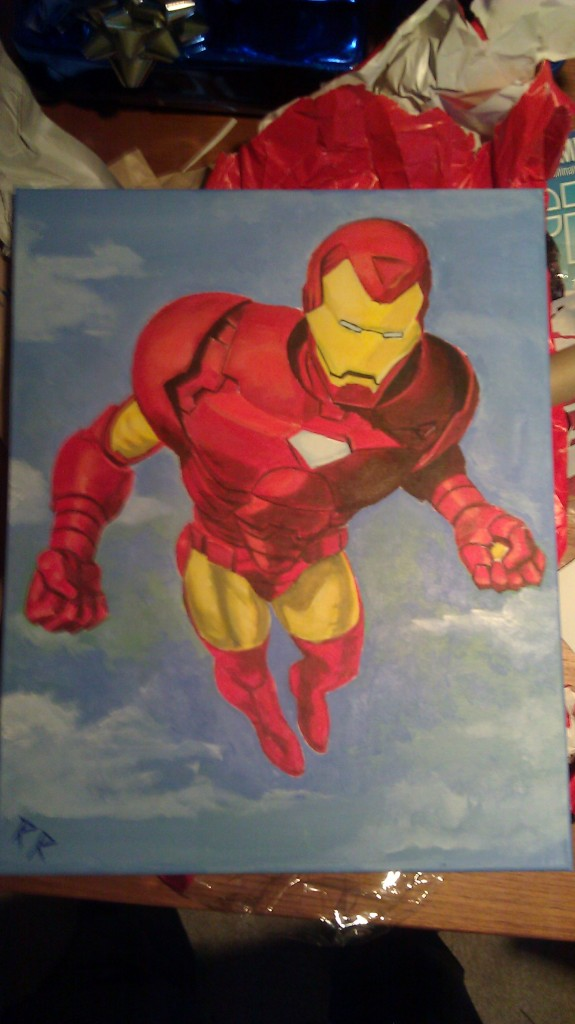 Painting of Ironman for my nephew Alex